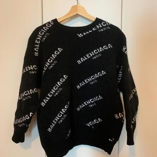 バレンシアガ(Balenciaga)のBALENCIAGA ブラック ロゴニット セーター(ニット/セーター)