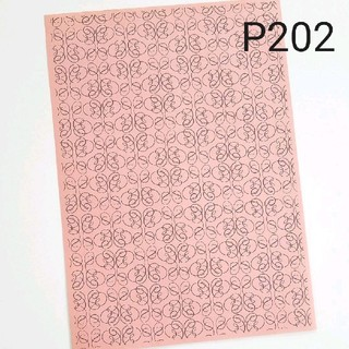 P202★アンティークピンクA4柄入りペーパー10枚(カード/レター/ラッピング)