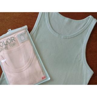 ユニクロ(UNIQLO)のユニクロ タンクトップ2枚組 新品 未使用品♪綿 コットンボーダー UNIQLO(タンクトップ)