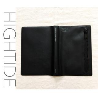 UNITED ARROWS - 【美品】HIGHTIDE ハイタイド 手帳カバー ポケット付き ブラック 黒