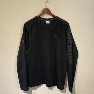 プーマ(PUMA)のPUMA カットソー 長袖 黒 トレーニング ウェア(Tシャツ/カットソー(七分/長袖))
