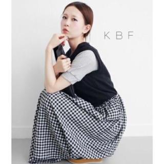 KBF - KBF スウェットmixギンガムチェックワンピース