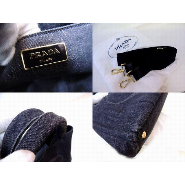 PRADA(プラダ)のプラダ トートバッグ ■ B2642B カナパ キャンバス グレー レディースのバッグ(トートバッグ)の商品写真