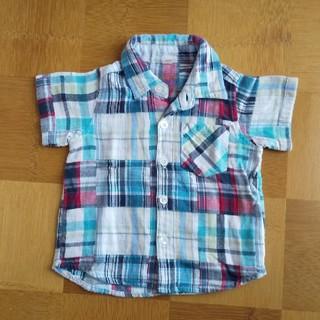 ニシマツヤ(西松屋)の半袖 襟つき シャツ(シャツ/カットソー)
