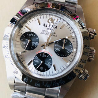 アルファ(alpha)の◆新品◆アルファ デイトナ ポールニューマン◆手巻◆メンズ腕時計 シルバー(腕時計(アナログ))