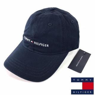 TOMMY HILFIGER - トミーヒルフィガー ロゴ キャップ ロゴ 紺 革ベルト 新品 180726