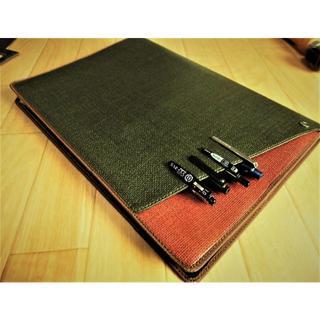 2冊用【A4フロントポケット付ノートカバー】サニー■グリーン/茶(その他)