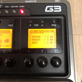 ズーム(Zoom)のzoom g3 ギター マルチエフェクター(エフェクター)