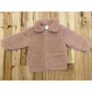 H&M - H&M ꕤ ボア ピンク ジャケット コート