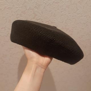 マウジー(moussy)のmoussy ベレー帽 黒 2020SS(ハンチング/ベレー帽)