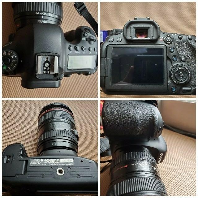 Canon(キヤノン)のEOS6D MarkⅡ レンズ三本セット スマホ/家電/カメラのカメラ(デジタル一眼)の商品写真