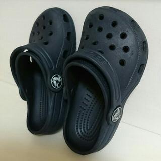crocs - crocs キッズ 子ども用  14㎝  ネイビー used