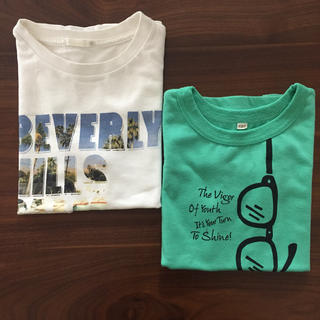 ジーユー(GU)のTシャツ2枚セット 120(Tシャツ/カットソー)
