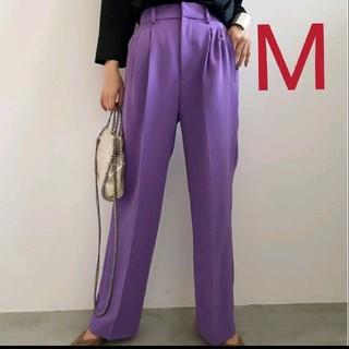 Ameri VINTAGE - 新品タグ付 2TUCKS STRAIGHT PANTS 紫 M アメリ