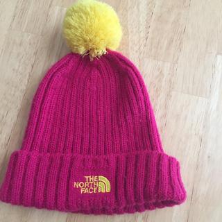 ザノースフェイス(THE NORTH FACE)のノースフェイスニット帽 ピンク(中古)(帽子)