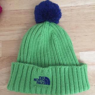 ザノースフェイス(THE NORTH FACE)のノースフェイスニット帽 グリーン(中古)(帽子)