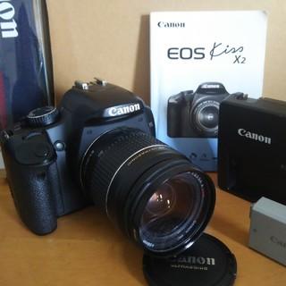 キヤノン一眼レフ  EOS kiss X2  EF28-80mm レンズセット