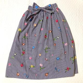 エイチアンドエム(H&M)の《used特価》H&M フレアスカート 花柄 ファッション スカート パステル(ひざ丈スカート)