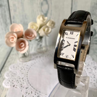 BURBERRY - 【電池交換済】BURBERRY バーバリー 14000L 腕時計 レクタンギュラ
