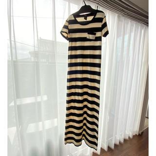 ダブルスタンダードクロージング(DOUBLE STANDARD CLOTHING)のSALE❗️美品 ダブスタ ボーダーロングワンピ(ロングワンピース/マキシワンピース)