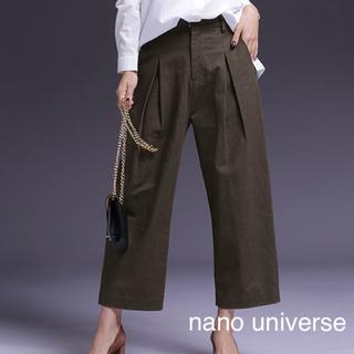 ナノユニバース(nano・universe)の【着用回数少】nano universe * ワイドタックパンツ(カジュアルパンツ)