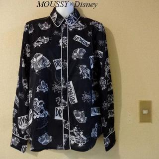 マウジー(moussy)のMOUSSY×Disneyコラボ♡ミッキー柄柔らかシャツ(Tシャツ(長袖/七分))
