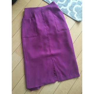 テチチ(Techichi)の美品 パープルスカート(ひざ丈スカート)