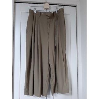 ラッドミュージシャン(LAD MUSICIAN)の19ss 3tuck wide cropped pants(スラックス)