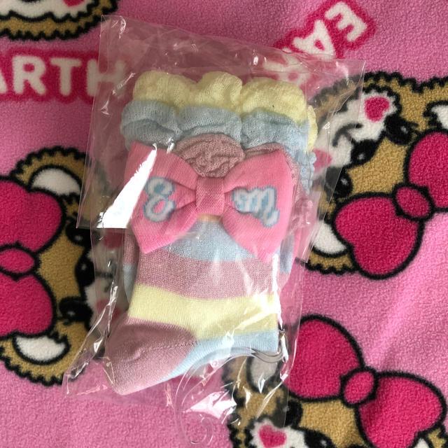 EARTHMAGIC(アースマジック)のパステルクルーソックス☆16〜 キッズ/ベビー/マタニティのこども用ファッション小物(靴下/タイツ)の商品写真