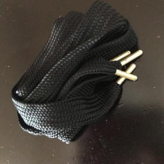 プーマ(PUMA)の靴紐 黒(スニーカー)