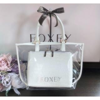 FOXEY - フォクシー PVCクリアバッグ ハンドバッグ ホワイト