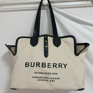 バーバリー(BURBERRY)のBurberry バーバリー キャンバス トートバック Lサイズ トラベル可能(トートバッグ)
