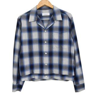 フィーニー(PHEENY)のpheeny  Rayon ombre check shirt blue (シャツ/ブラウス(長袖/七分))
