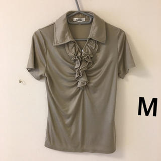 アルファキュービック(ALPHA CUBIC)の564)M胸フリル付ストレッチシャツALPHA CUBIC(カットソー(半袖/袖なし))
