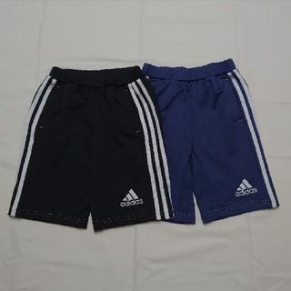 アディダス(adidas)のアディダスキッズハーフパンツ2枚セット120cm青黒(パンツ/スパッツ)