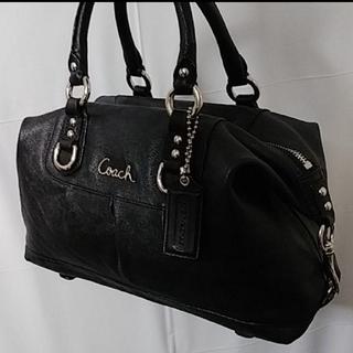 COACH - 美品❗COACH バッグ 黒 本革
