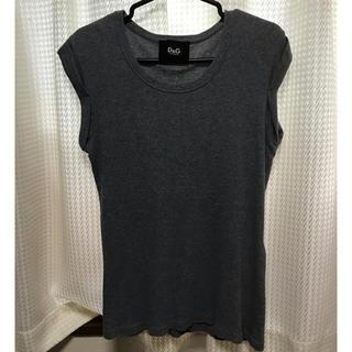 ドルチェアンドガッバーナ(DOLCE&GABBANA)のD&G ドルガバ レディース ノースリーブ トップス  Mサイズ(Tシャツ(半袖/袖なし))
