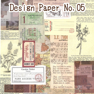 Design Paper デザインペーパー No,05(15枚入)☆231(カード/レター/ラッピング)