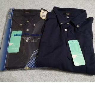 アイトス(AITOZ)のアイトス 半袖ボタンダウンポロシャツ ネイビー(ポロシャツ)