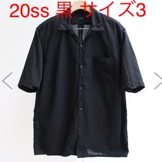コモリ(COMOLI)のCOMOLI コモリ ベタシャン オープンカラー シャツ ブラック 3(シャツ)