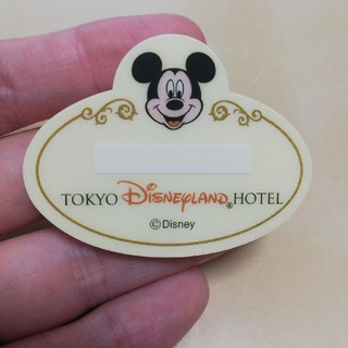 Disney - [ディズニー]ディズニーランドホテル◆ネームプレート◆名札◆バッジ◆未使用
