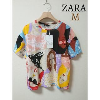 ZARA - 今季 ZARA ザラ フェイスプリント Tシャツ 半袖 トップス M