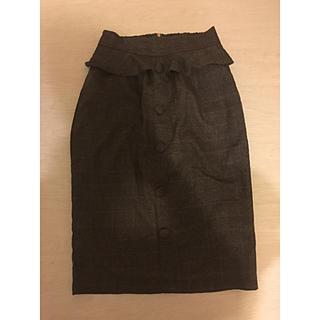 アーベーセーアンフェイス(abc une face)のグレンチェックタイトスカート(ひざ丈スカート)