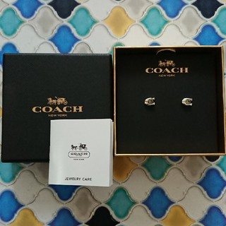 コーチ(COACH)のCOACH ピアス F54498 シルバー ストーン(ピアス)
