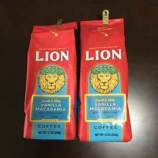 ライオンコーヒー バニラマカダミア(粉) 10oz 283g 2袋セット