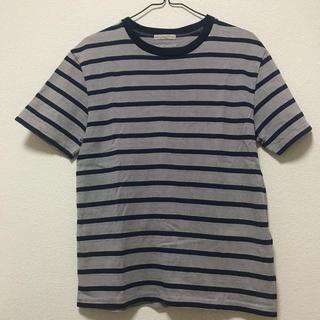UNITED ARROWS - ユナイテッドアローズ グレー とネイビーのボーダーTシャツ