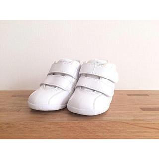 asics - アシックス シューズ すくすく オールホワイト 12.5cm