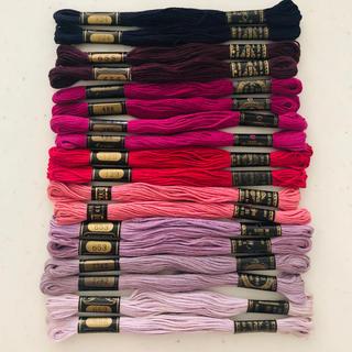 オリンパス(OLYMPUS)のオリンパス コスモ 刺繍糸9色18本(紫系)(生地/糸)