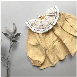 Caramel baby&child  - liilu Embro Volant Collar オーガニックコットン付け襟