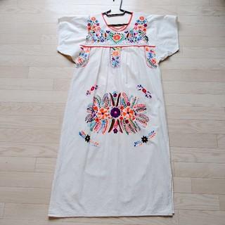 titicaca - アジアン 刺繍ワンピース